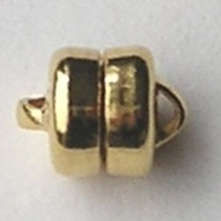 Magneetsluiting. (klein) Goldplated. 6x8 mm. (niet voor mensen met pacemaker)