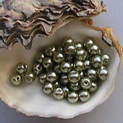 Glass Pearl 12mm Olivine