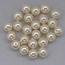 Glasparel. Creamy. 6mm. Czech for 55 pieces