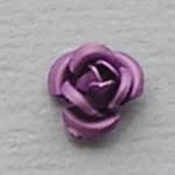 Metalen Roosje. 6mm. Lila