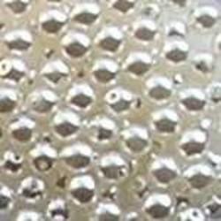 Glasparel. Wit. 4mm. 100 stuks voor