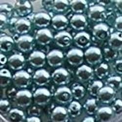 Glasparel. Light Turkoois. 4mm. 100 stuks voor