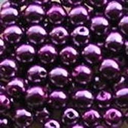 Glasparel. Lila Roze. 4mm. 100 stuks voor