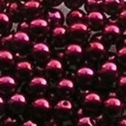 Glasparel. Rood. 4mm. 100 stuks voor