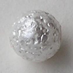 Glasparel met 1/2 gat. White Ice 8mm. (Tsjechisch)