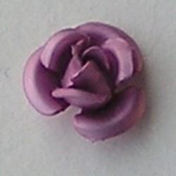 Metalen Roosje. 8mm. Roze.