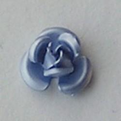 Metalen Roosje. 8mm. Lichtblauw.