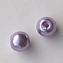 Glasparel. Lila. 10mm. Tonvormig met rijggat 2.2mm.