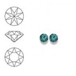 SWAROVSKI ELEMENTS Swarovski Similisteen 2.5mm pp19. xilion chaton Blue Zircon