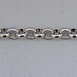 Jasseron Ketting. Oud Zilver. 4,5mm. x 50cm.