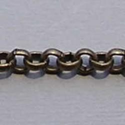 Jasseron Brons. 3.5mm. 50cm. voor