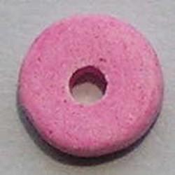 Keramiek Schijfje. 12mm. Roze. Per stuk voor