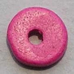 Keramiek Schijfje. 12mm. Fuchsia. Per stuk voor