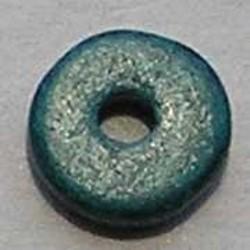 Keramiek Schijfje. 12mm. Zeegroen. Per stuk voor