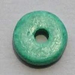 Keramiek Schijfje. 12mm. Groen. Per stuk voor