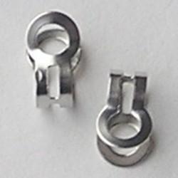 Eindklem voor ballchain ketting 3mm. (kun je er een sluiting aanmaken) Oudzilverkleurig.