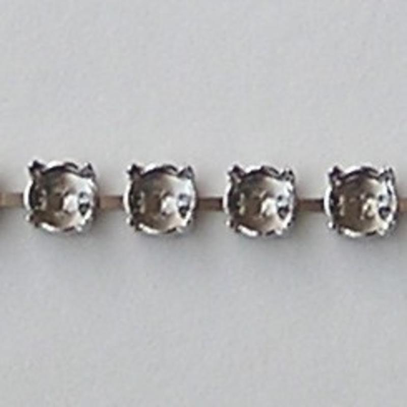 Armband Kastjes. Zilverkleurig. voor ss29 Swarovskisteen. per kastje.