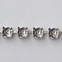 Collier Kastjes. Zilverkleurig. voor ss29 Swarovskisteen. per kastje.