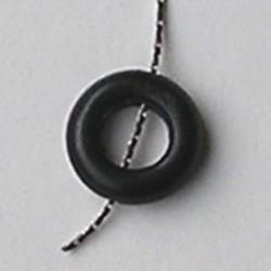 Rijgring. Zwart. 12mm. Hoorn.