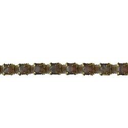 Strassband. 3mm. Grey Opal. Goud. Per 10 cm.