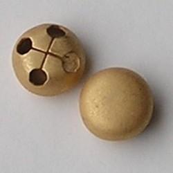 Grote Mat brass Goud design Quality Kraal. Rond plat 4 gaats. 18mm.