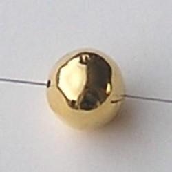 Goudkleurige Brass. Holle Kraal. 18mm. Onregelmatig. Hoogwaardige kwaliteit.