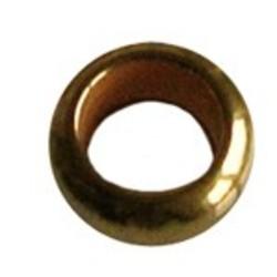 Metalen kraal Rondelle. Hoogw. kwal. 4x9mm. Goudkleur. Rijggat 4mm.
