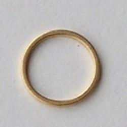 Goudkleurige Brass gladde dichte ring. 12mm.
