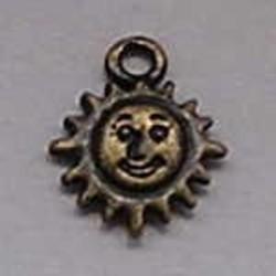 Sun Charm 12mm Bronze