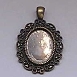 Filligrain Hanger. 32x38mm. Bronze. Suitable for Cameo.