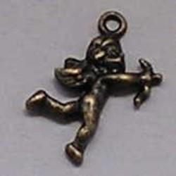 Charm Cupid 16x23mm Bronze