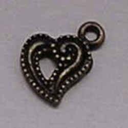 Charm Heart 11x16mm Bronze