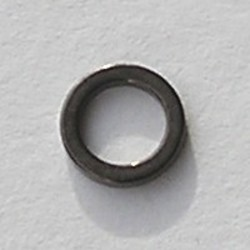 Gun metalkleurige Brass gladde dichte ring. 8mm.