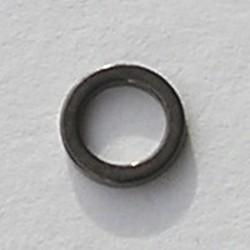 Gun metalkleurige Brass gladde dichte ring. 8mm.