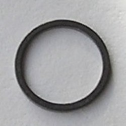 Gun metalkleurige Brass gladde dichte ring. 12mm.