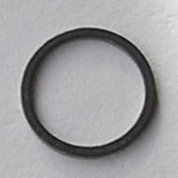 Gun metalkleurige Brass gladde dichte ring. 12mm.