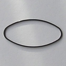 Gun metalkleurige Brass gladde ovale dichte ring. 20x40mm.