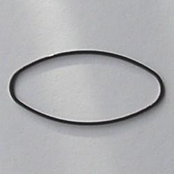 Gun metalkleurige Brass gladde ovale dichte ring. 20x40mm.