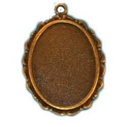 Hanger. 25x35mm. Bronze. Suitable for cabochon 18x25.