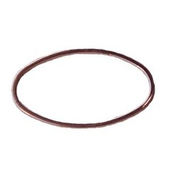 Rosegoud 23 karaats vergulde Brass gladde ovale dichte ring. 16x26mm. Hoge kwaliteit.