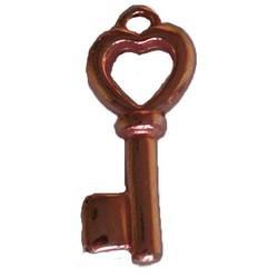 Hanger Sleutel. 15x35mm. Rosekleurig.