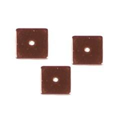 Rosegoud 23 karaats verguld platte schijfkraal. 8x8mm. Hoogwaardige kw.