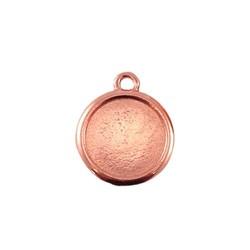 Hangertje voor cabochon 12mm. Rose goudkleurig.