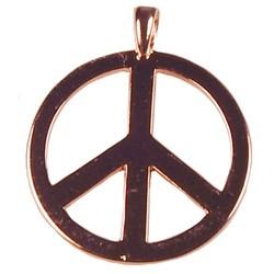 Hanger Peace. 30x37mm. Rosekleurig.