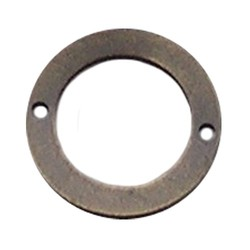 Bronskleurig Brass. Platte ring. 2- Gaats 26mm.