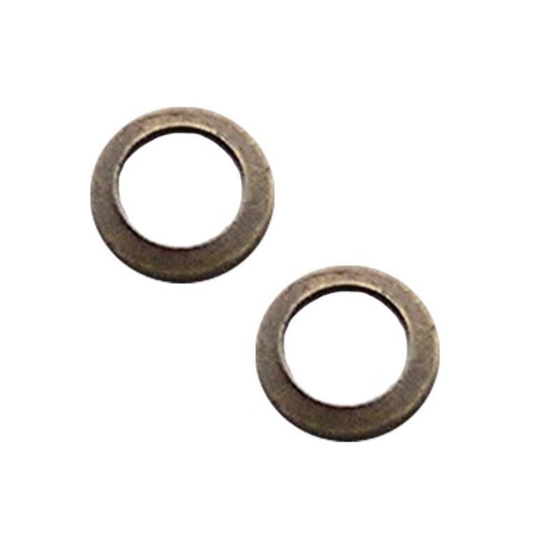 Bronskleurige Brass. Platte ring. 13mm.