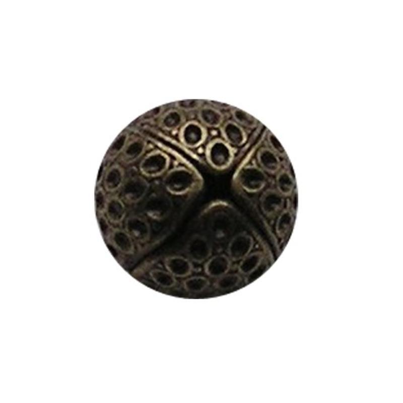 Bronskleurige Brass Holle 18mm Kraal.