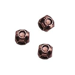 Metalen kraal. 8mm. Voor 4x ss16 Kubus Roodkoperkleurig.