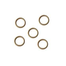 Goudkleurige Brass gladde dichte ring. 8mm.