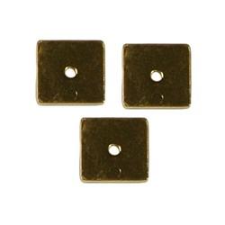 Goudkleurige platte schijfkraal. 8x8mm. Hoogwaardige kwaliteit.
